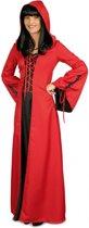 Middeleeuwse rode jurk met capuchon 40/42