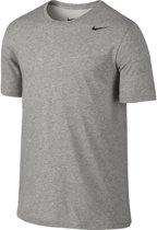 Nike Dri Fit Version - Sportshirt - Heren - Maat S - Grijs