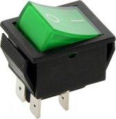 Schakelaar - groen - 12 volt - 35A - verlicht