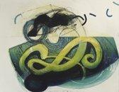 Hans Vredegoor Schilderij Ets 'Het Voorgevoel I'(87x63)