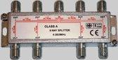 TV splitter & Coax 8-voudig verdeler voor F-connectoren