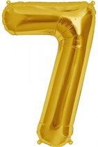 Cijfer 7 Goud lucht 41cm
