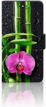Huawei P8 Lite Smart (GR3) Uniek Hoesje Orchidee