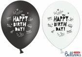 Ballonnen Happy Birthday modern 50 stuks