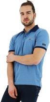 Chris Cayne regular fit poloshirt korte mouw blauw, maat XL