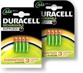 DURACELL duopack oplaadbare batterijen AAA (8st)