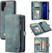 CASEME Luxe Leren Portemonnee hoesje voor de Huawei P30 Pro - blauw