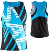 Salming Running Wedstrijd Singlet - Hardloopshirt - Unisex - Blauw - XL