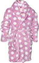 Kinderbadjas stippen maat S(5-6jaar)