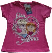 Roze t-shirt van Disney Frozen,Fruit of the Loom maat 98/104