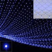 Somultishop Lichtgordijn Kerstverlichting - 120 x 120 cm - Blauw - 100 LED's - Voor binnen & buiten