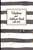 Telephone and Address Book With Tabs: Organizer and Notes with Alphabetical Tabs