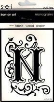 Strijksjabloon Monograms Letter N