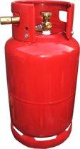 LPG Hervulbare Gasfles 27L Gas damp tank compleet met Europa nippels 4 x