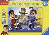 Ravensburger puzzel Alvin, Simon en Theodore maken muziek - Legpuzzel - 100 stukjes
