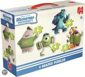 Jumbo Disney Monsters 4in1 - Vormenpuzzel - 6,8,10 en 12 stukjes