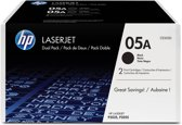 HP 05A - Tonercartridge / Zwart / 2-Pack
