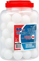 Get & Go Tafeltennisballen in Pot - 60 Stuks - Wit