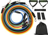 XL Fitness Elastiek Set - Resistance Power Band Tube - Stretch Fitnessbanden / Weerstandskabel