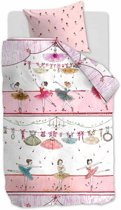 Beddinghouse Kids Dancing - Kinderdekbedovertrek - Eenpersoons - 140x200/220 cm - Pink