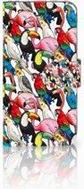 iPhone X | Xs Bookcase met ruimte voor pasjes Birds