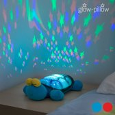 GLOW PILLOW KNUFFEL MET LED PROJECTOR (SCHILDPAD)