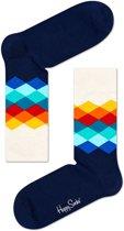 Happy Socks Sokken Socks Faded Diamond Blauw Maat:41-46