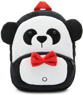 Kinderrugzak van luxe zacht pluche - lekker zacht en praktisch | Stoere schooltas | ook leuk als luieretui |Rugtas kleuter peuter pluche |Panda