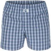 DEAL boxershort ruit donkerblauw/lichtblauw
