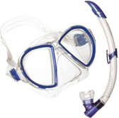 Aqua Lung Sport Duetto LX + Airflex Purge LX - Snorkelset - Volwassenen - Blauw