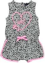 Losan Meisjes Jumpsuit Grijs met roze  - Maat 68