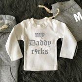 Shirtje My daddy rocks.