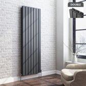 Designradiator Thera Premium Vlak Dubbel Verticaal Antraciet - 160 x 53.2 cm