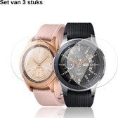 KELERINO. Screenprotector voor Samsung Galaxy Watch 42mm - Plastic - 3 stuks