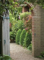 Tuinposter poort romantische tuin