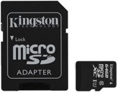 Kingston Technology microSDXC 64GB flashgeheugen Klasse 10 Flash + Adapter