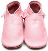Inch Blue babyslofjes moccasin baby pink maat M (12 cm)