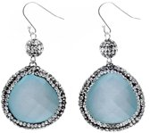 Edelstenen oorbel Bright Blue Cat's Eye