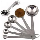 6-delige set RVS maatlepels - maatschep - maatbekers - maatcups -