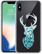 Apple iPhone X Hoesje Art Deco Deer