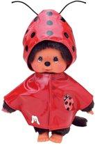 KLEDINGSET MONCHHICHI Fashion Rode regenjas met lieveheersbeestje