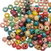 Houten Kralen Metallic (5 - 6 mm) Mix Color (250 stuks)