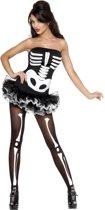Sexy halloween skelet kostuum voor dames - Verkleedkleding - Small (36-38)