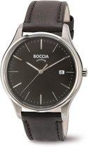 Boccia 3587-02 horloge heren - bruin - titanium