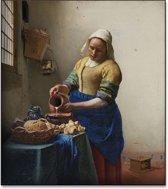 Johannes Vermeer - Het melkmeisje - 110x125cm Textielframe
