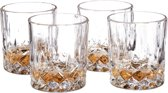 relaxdays Whiskyglazen set 4 stuks whiskeyglazen kristalglas 250 ml whiskyglas