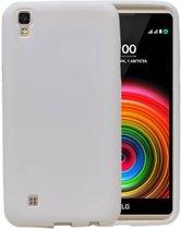 LG Stylus 3 / K10 Pro Wit | Sand Look TPU Hoesje  | WN™