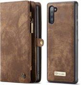 CASEME Samsung Galaxy Note 10 Vintage Portemonnee Hoesje - Bruin