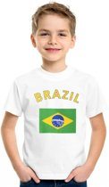 Kinder t-shirt vlag Brazil Xl (158-164)