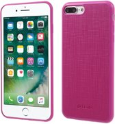 Jelly PU Leather+TPU  Case Cover voor Apple iPhone 7 / 8 - Rose Rood